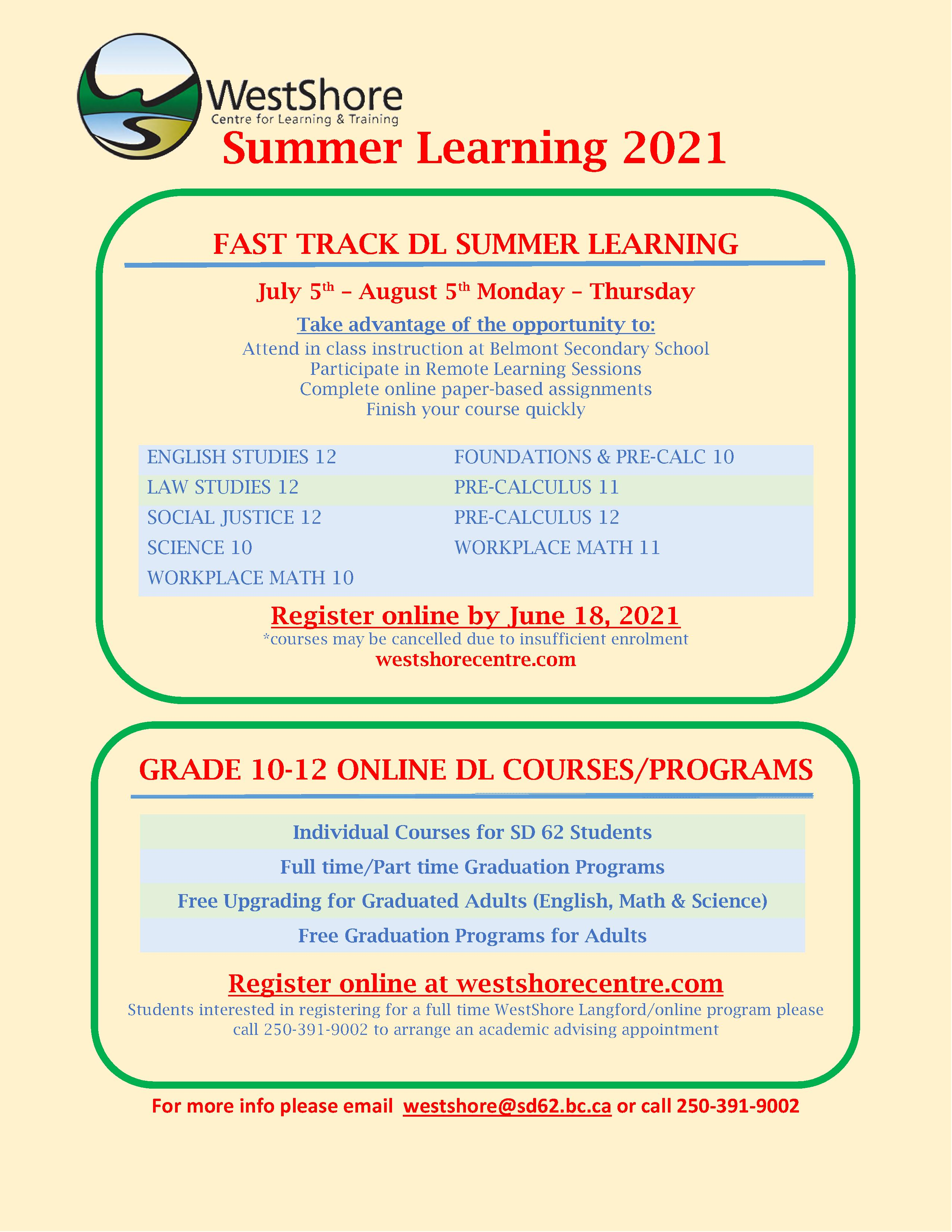 Summer Learning Opportunity